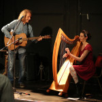 Colum Sands and Harpist by Stephanie Waterman
